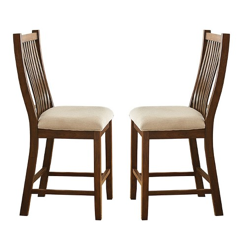 Set of 2 Kobi Counter Chairs Oak - Steve Silver - image 1 of 3