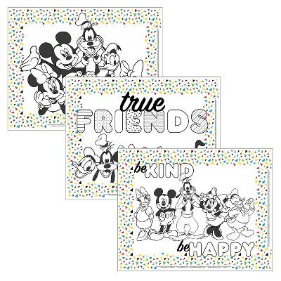 Disney Baby by J.L. Childress Color Me Disposable Placemats - 24pk