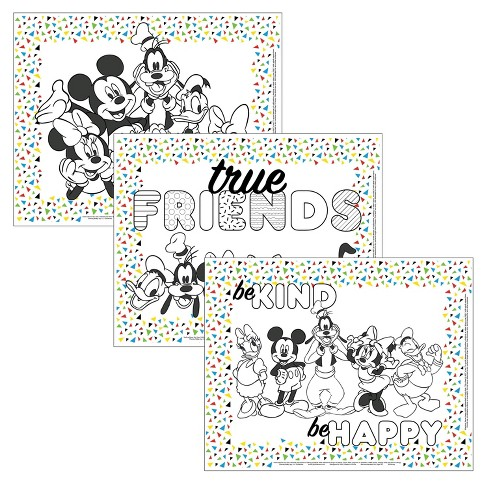 Disney Baby by J.L. Childress Color Me Disposable Placemats - 24pk - image 1 of 4