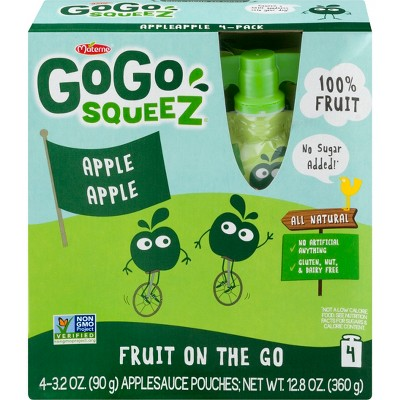 Gogo Squeez Applesauce On The Go Apple Pouches 4ct - 3.2oz
