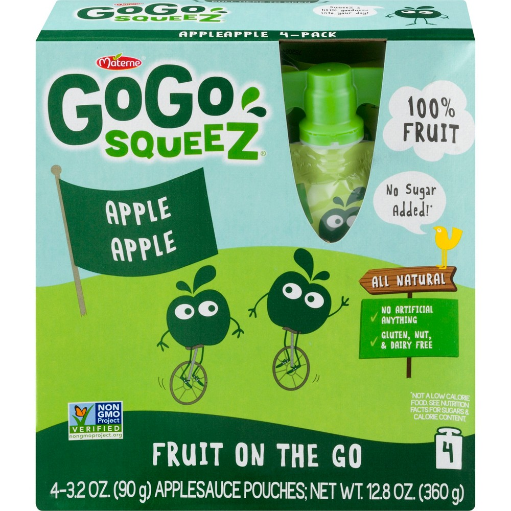 Gogo Squeez Applesauce On The Go Apple Pouches 4ct - 3.2oz