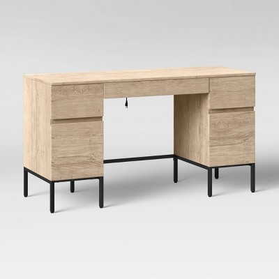 Loring Executive Desk with Drawers Vintage Oak - Project 62™
