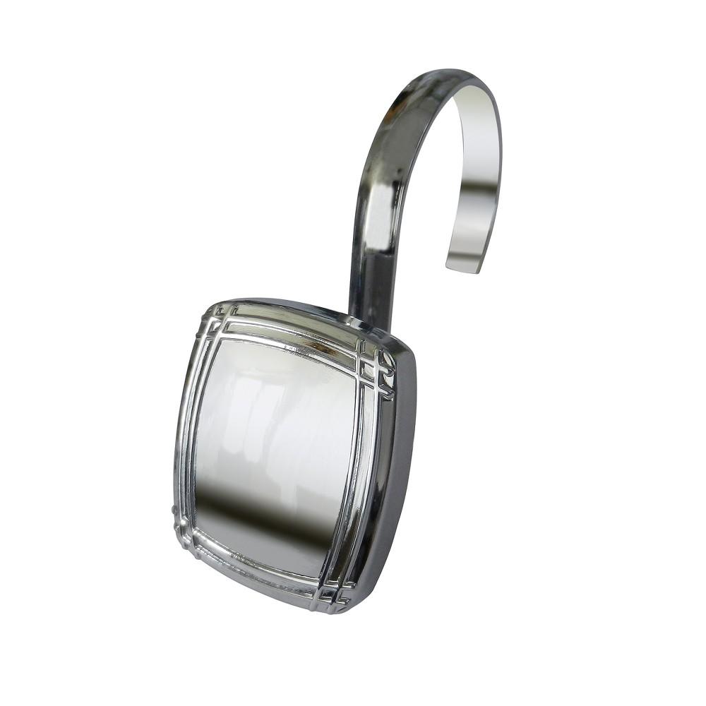 Shower Curtain Hooks Elegant Home Fashion Light Silver