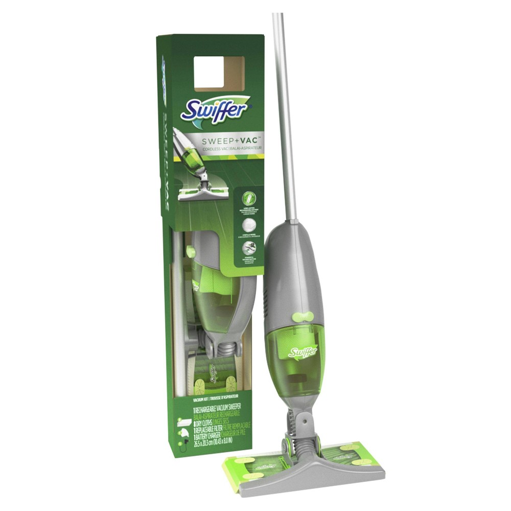 Swiffer Sweep + VAC Cordless Vacuum Kit, Green