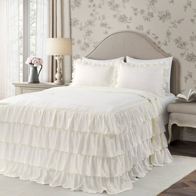 Lush Décor Allison Ruffle Skirt Bedspread & Sham Set