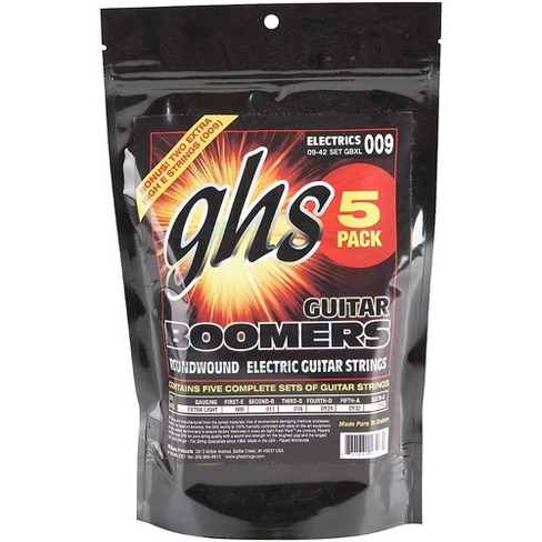 GHS Boomers GBXL Extra Light Electric Guitar Strings (9-42) 5-Pack - image 1 of 1