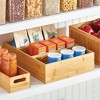 mDesign Bamboo Wood Kitchen Storage Organizer for Food Container Lids - Natural - image 3 of 4