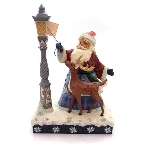 "Jim Shore 10.75"" Let Your Christmas Light Shine Santa Reindeer Lighted - image 1 of 3"