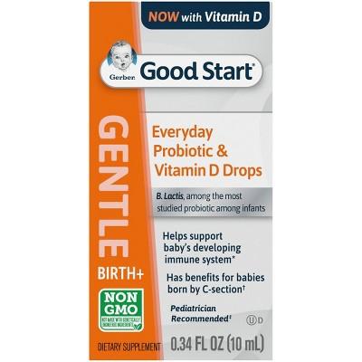 Gerber Gentle Everyday Probiotic Drops - .34 fl oz