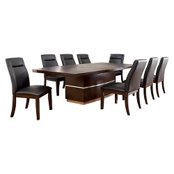 9pc MiddlesonDining Set Dark Cherry Finish - miBasics