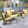 Shirt Texture Deep Seat Outdoor Cushion Set Yellow - Arden Selections - image 2 of 2