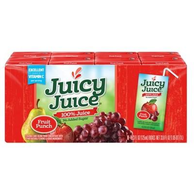 Juicy Juice Fun Size Fruit Punch 100% Juice - 8pk/4.23 fl oz Boxes