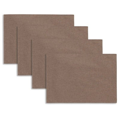 """4pk 13""""x19"""" Somers Placemats Brown - Town & Country Living"""