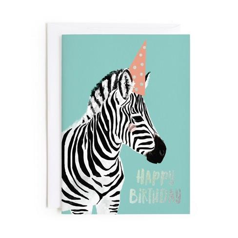 Minted Zebra Birthday Card Target