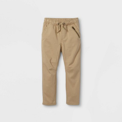 Toddler Boys' Woven Jogger Chino Pull-On Pants - Cat & Jack™ Tan