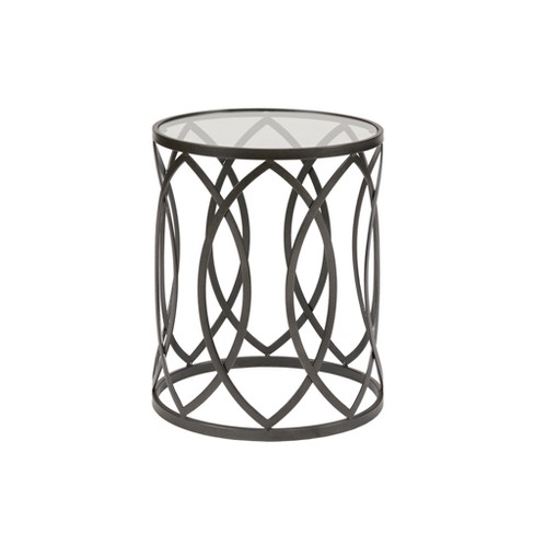 Gaige Metal Eyelet Accent Table - image 1 of 3
