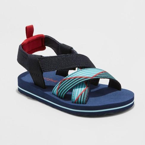 Toddler Boys' Grant Footbed Sandals - Cat & Jack™ Navy XL - image 1 of 3