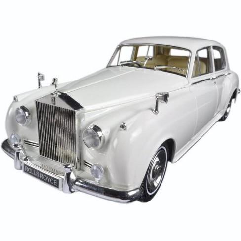 1960 rolls royce silver cloud ii white 1/18 diecast model car