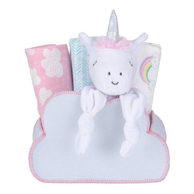 My Tiny Moments Welcome Baby Shaped Gift Set - Rainbow Unicorn 5pc