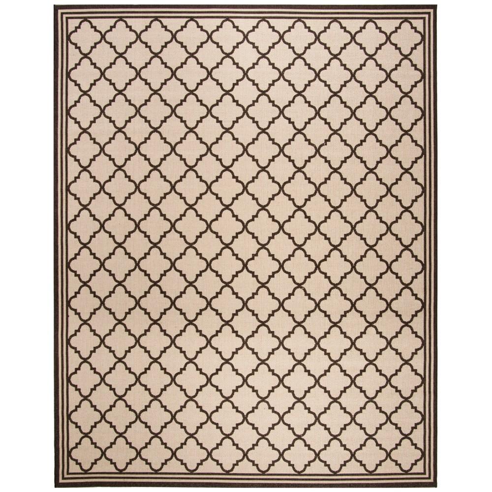 8'X10' Quatrefoil Design Loomed Area Rug Natural/Brown - Safavieh