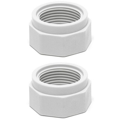 2) Polaris D15 Swimming Pool Cleaner 180 280 380 Feed Hose Nuts Part D-15, White