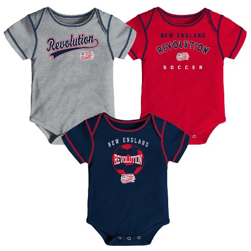 MLS Baby 3pk Onesies New England Revolution - image 1 of 4