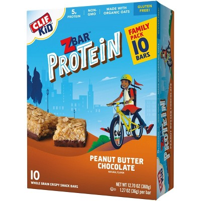 CLIF Kid ZBAR Protein Chocolate Peanut Butter Snack Bars - 10ct