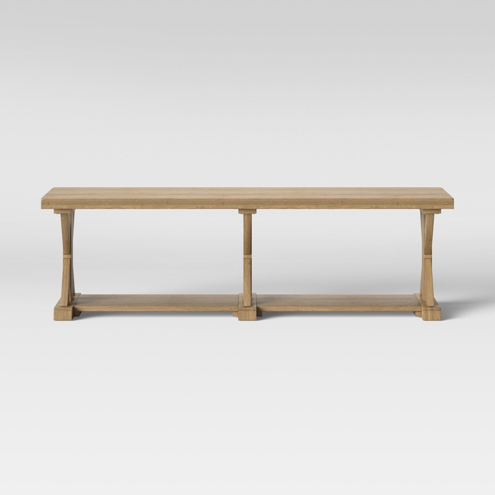 Litchfield Farmhouse Wood End of Bed Bench Wheat - Threshold