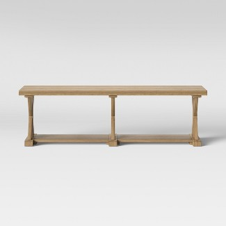 Litchfield Farmhouse Wood End of Bed Bench Wheat - Threshold™