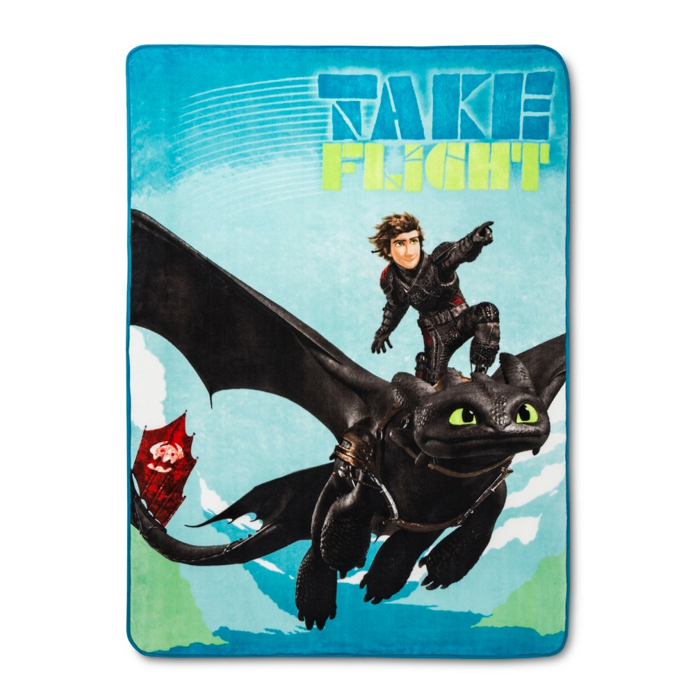 Image of How to Train your Dragon 3 Twin Bed Blanket