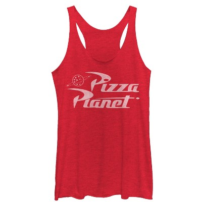 Women's Toy Story Pizza Planet Logo Racerback Tank Top
