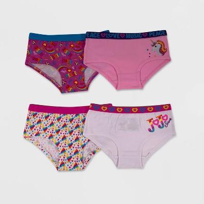 Girls' JoJo Siwa Rainbow 4pk Hipster Briefs Underwear