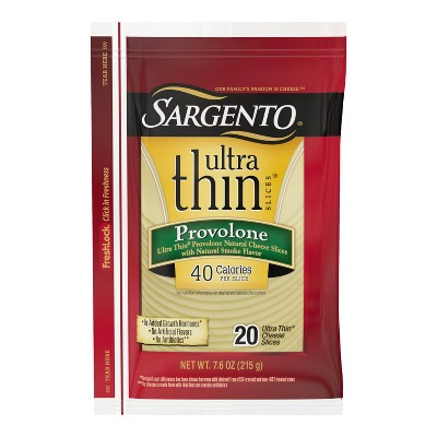 Sargento Ultra Thin Natural Provolone Cheese Slices  - 7.6oz/20 slices