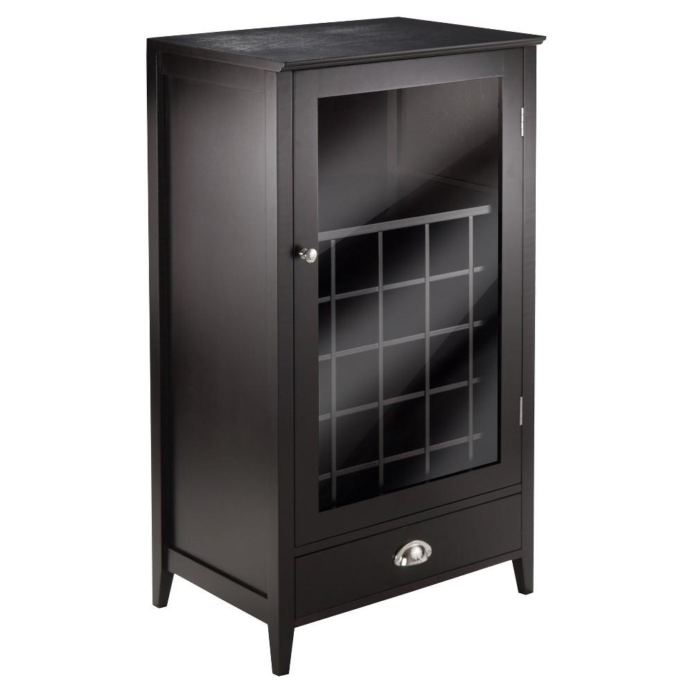 Winsome 92455 Bottle Slot Modular Bordeaux Wine Cabinet Wood/Black Espresso, Brown
