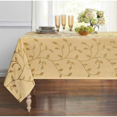 Kate Aurora Living Madison Floral Embroidered Fabric Tablecloth - image 1 of 1