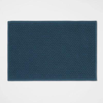 "21""x30"" Performance Solid Cotton Bath Mat Teal - Threshold™"