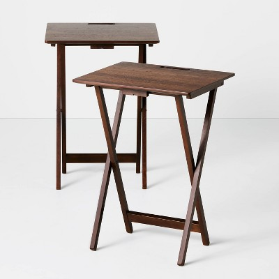 TV Tray Table Set Brown - Hearth & Hand™ with Magnolia