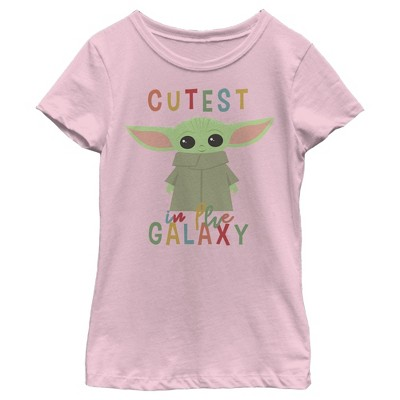 Girl's Star Wars The Mandalorian The Child Cutest in the Galaxy T-Shirt