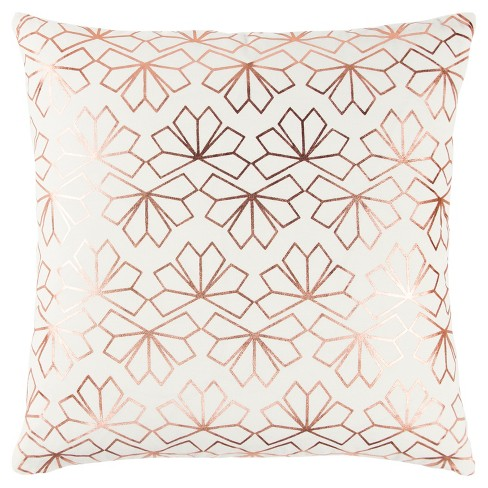 "20""x20"" Geometric Interlocking Crystal Throw Pillow - Rizzy Home - image 1 of 3"