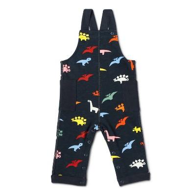 Baby Adaptive Dino Print Knit Overalls - Christian Robinson x Target Navy