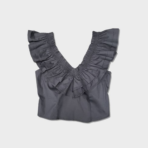 Women's Sleeveless Ruffle Top - Wild Fable™ - image 1 of 4