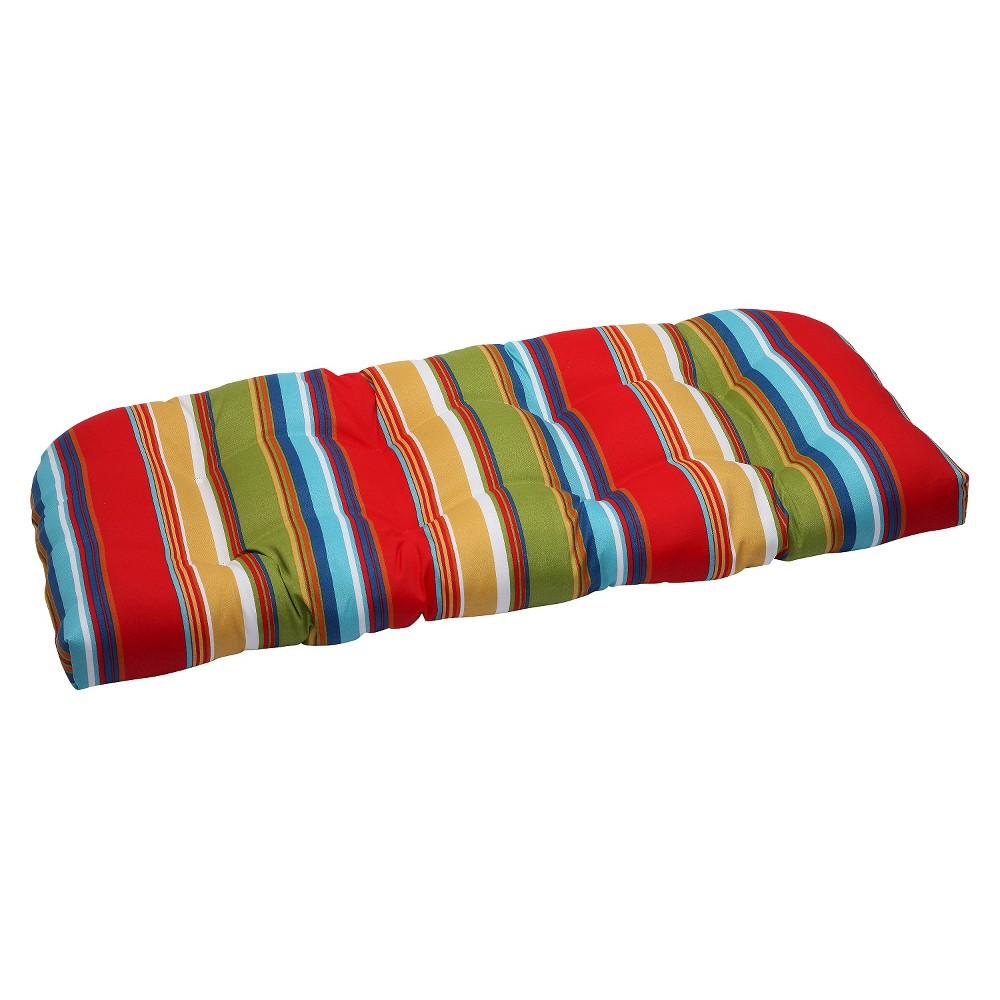 Pillow Perfect Westport Outdoor Wicker Loveseat Cushion
