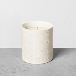 9oz Holiday Ceramic Jar Candle Cedar Magnolia - Hearth & Hand™ with Magnolia