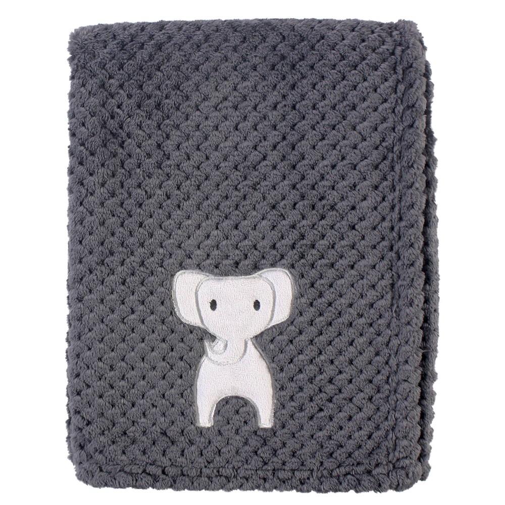 Hudson Baby Unisex Baby Plush Waffle Blanket Modern Elephant One Size