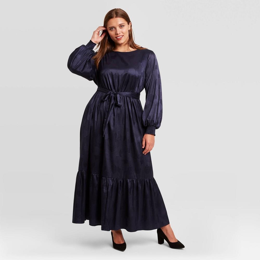 Compare Women's Plus Size Long Sleeve Dress - Ava & Viv™ Navy