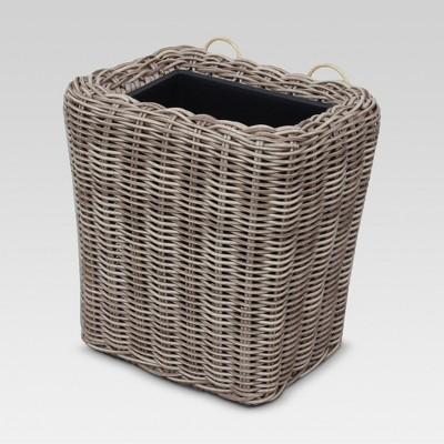 Rectangular Wicker Wall Planter - Gray - Threshold™