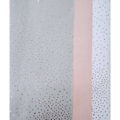 20ct Foil Dots with Foil Dots Gift Wrap Tissue Gray/Pink/White - Spritz™