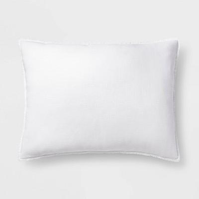 King Euro Heavyweight Linen Blend Throw Pillow White - Casaluna™
