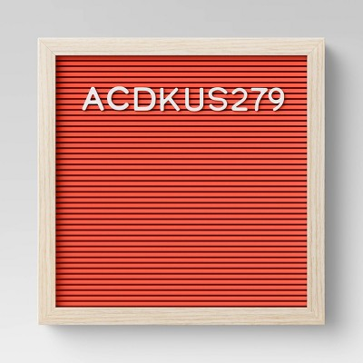 "12"" x 12"" Letterboard Red - Room Essentials™"