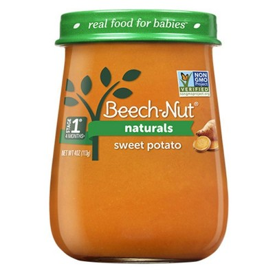 Beech-Nut Naturals Sweet Potatoes Baby Food Jar - 4oz